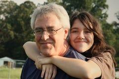 Amor del padre y de la hija Imagen de archivo libre de regalías