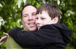 Amor del padre y del cabrito Imagen de archivo libre de regalías