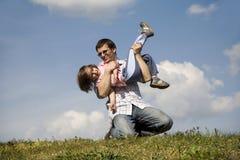 Amor del padre y del niño Imagen de archivo libre de regalías