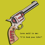 Amor del revólver imagenes de archivo