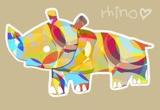 Amor del rinoceronte Fotografía de archivo libre de regalías