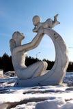 Amor del ` s de la madre de la escultura Foto de archivo