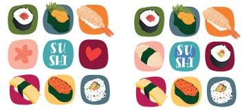Amor del sushi Imagen de archivo libre de regalías