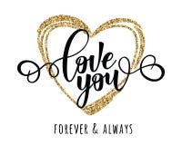 Amor del ` usted cartel inspirado de la motivación de las letras del ` Imágenes de archivo libres de regalías