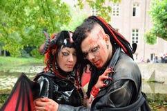 Amor del vampiro Imágenes de archivo libres de regalías