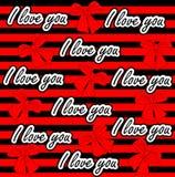 Amor del vector usted modelo inconsútil Amor colorido Imagen de archivo libre de regalías