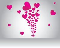 Amor del vuelo en tarjeta del día de San Valentín Imagen de archivo libre de regalías