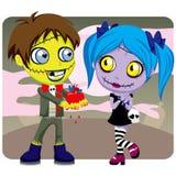 Amor del zombi de la tarjeta del día de San Valentín Imagen de archivo