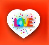Amor dentro do coração Imagens de Stock Royalty Free