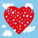 Amor do céu dos corações Fotografia de Stock