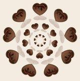 Amor do círculo de Choco Fotos de Stock Royalty Free
