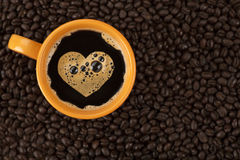 Amor do café Fotos de Stock Royalty Free