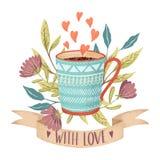 Amor do copo de café Fotos de Stock Royalty Free