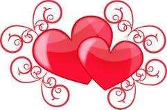 Amor do coração Imagens de Stock