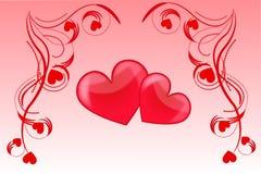 Amor do coração Fotografia de Stock