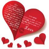 Amor do coração Fotos de Stock Royalty Free