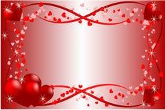 Amor do coração do espaço Fotografia de Stock Royalty Free