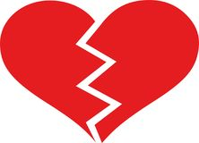 Amor do coração quebrado ilustração royalty free