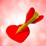 Amor do dardo Foto de Stock Royalty Free