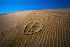 Amor do deserto Foto de Stock Royalty Free