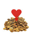 Amor do dinheiro Fotos de Stock