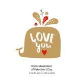 Amor do ` do cartaz do vetor você ` imagens de stock
