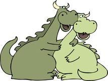 Amor do dragão ilustração royalty free