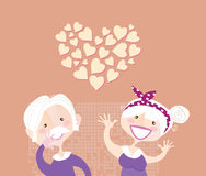 Amor do ethernal dos Grandparents Fotos de Stock Royalty Free