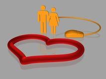 Amor do Internet - isolado - 3D ilustração stock