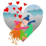Amor do inverno Imagens de Stock Royalty Free