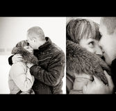 Amor do inverno Foto de Stock Royalty Free