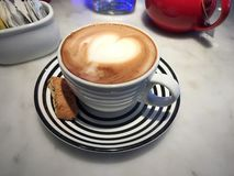 Amor do Latte foto de stock royalty free