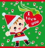 Amor do Natal Ilustração Stock