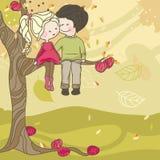 Amor do outono ilustração royalty free