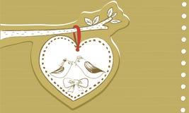 Amor do pássaro ilustração do vetor