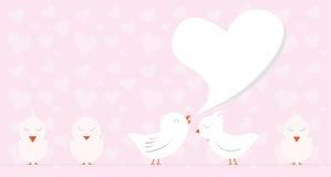 Amor do pássaro ilustração stock