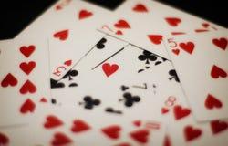 Amor do pôquer Fotos de Stock Royalty Free