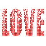 Amor do pixel Fotografia de Stock