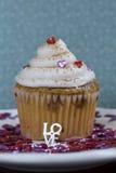 Amor do queque do Tiramisu Fotos de Stock Royalty Free