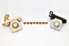 Amor do telefone Fotografia de Stock