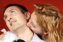 Amor do vampiro Imagem de Stock