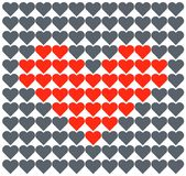 Amor do vetor do coração Teste padrão romântico ilustração do vetor