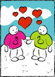 Amor - dois homem gay Imagem de Stock Royalty Free