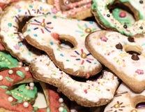 Amor dos corações das cookies Fotografia de Stock Royalty Free