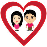 Amor dos desenhos animados Foto de Stock