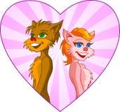 Amor dos desenhos animados Fotografia de Stock Royalty Free