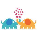 Amor dos elefantes Imagem de Stock Royalty Free