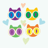 Amor dos gatos Imagem de Stock Royalty Free