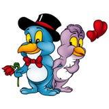 Amor dos pássaros ilustração stock