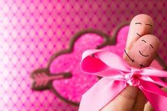 Amor dos povos do dedo Imagem de Stock Royalty Free